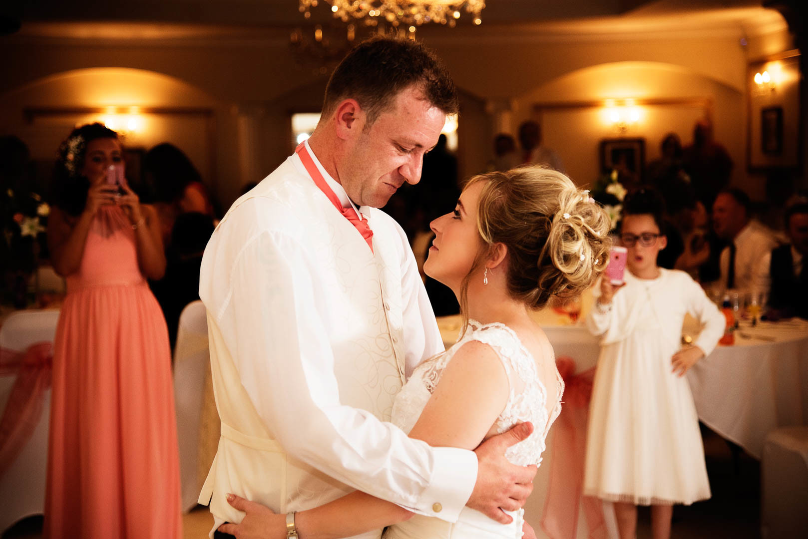Kayleigh and Karl during their first dance at Bulkington War Memorial club