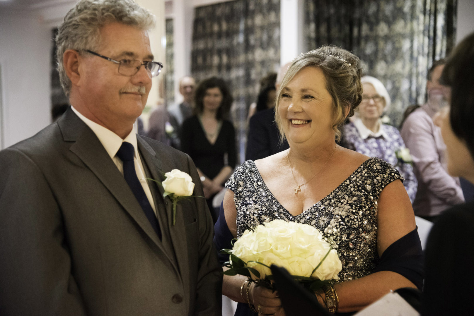 Smiles reigned through a cheerful and relaxed ceremony. Wedding vow renewal at The Royal Court Hotel