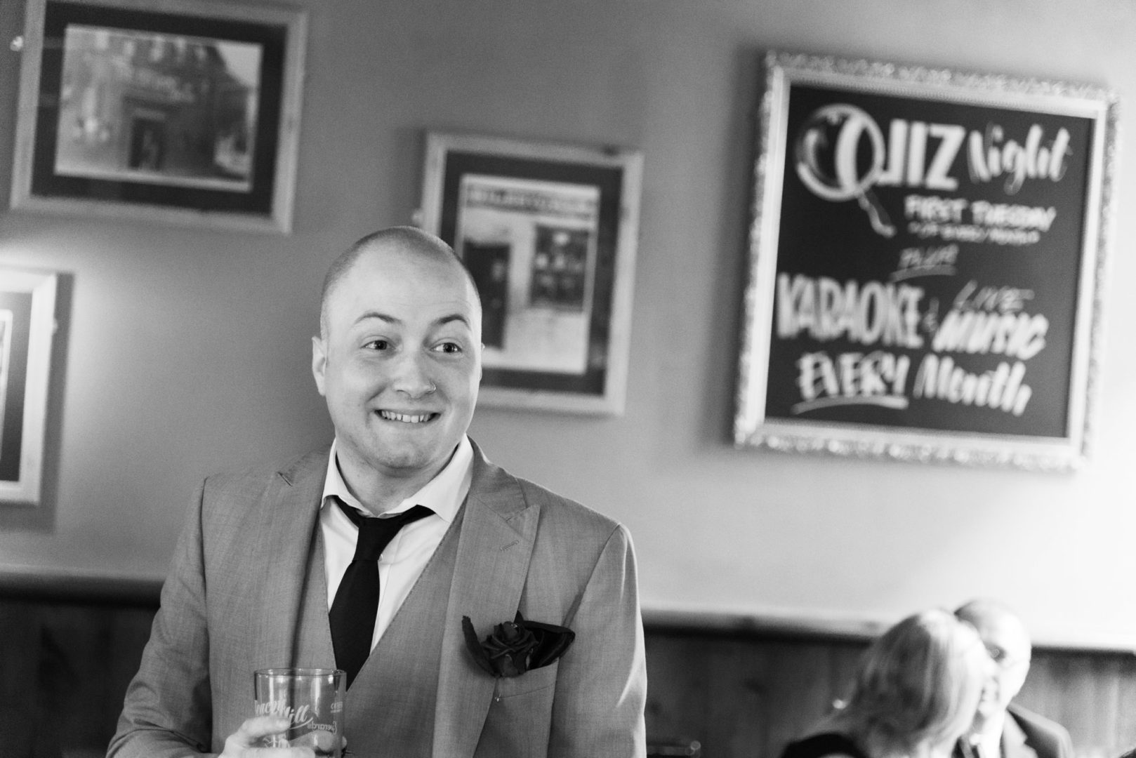 Nuneaton wedding photographer AJTImages at The Free Trade Inn in Sileby
