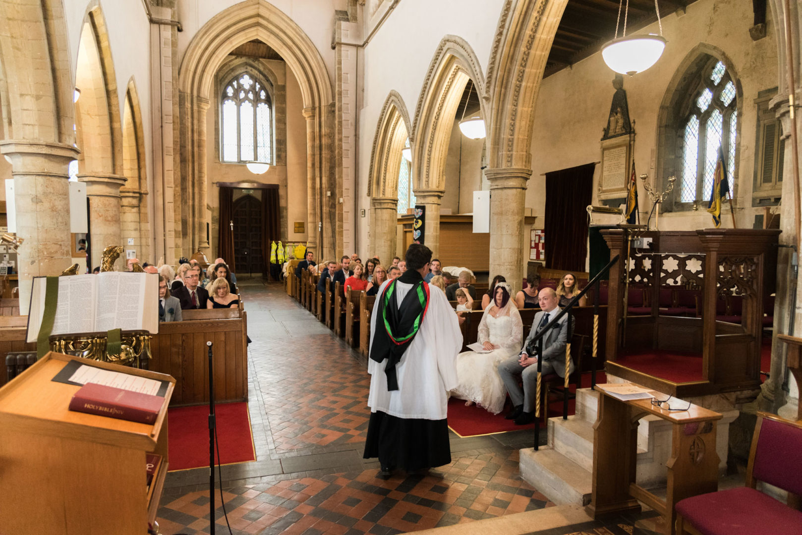 Nuneaton wedding photographer AJTImages at St Mary's Church in Sileby