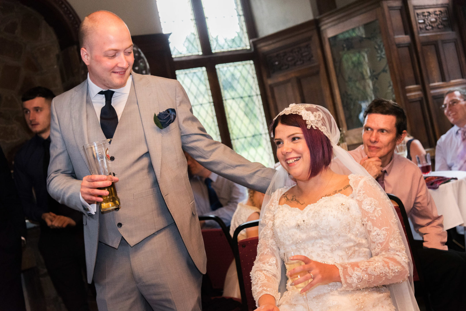 Nuneaton wedding photographer AJTImages at Rothley Court