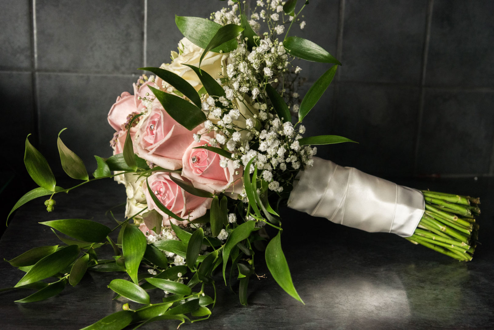 A bridal bouquet in Coventry
